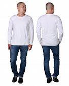White Long Sleeved Shirt Design Template poster