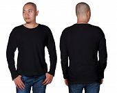 Black Long Sleeved Shirt Design Template poster