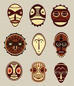 picture of african mask  - African Cultural Masks - JPG