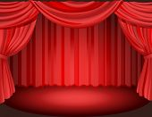 pic of curtains stage  - Vector illustration  - JPG