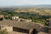 stock photo of assis  - view from Assis Italy showing the surrounding countryside - JPG
