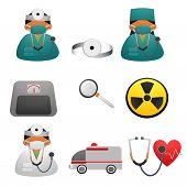 Health Heart Care Concept Medical Icons Signs Isolated On White Background.medical Infographics. Hea poster
