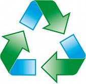 foto of reprocess  - universal recycling symbol  - JPG