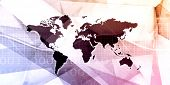 Worldwide Marketing Platform for Advertizing Industry Concept poster
