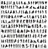 image of person silhouette  - big collection of vector silhouettes of people  - JPG