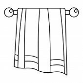 Bathroom Towel Icon. Outline Illustration Of Bathroom Towel Vector Icon For Web Design Isolated On W poster