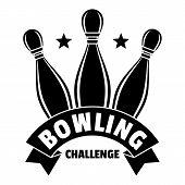 Bowling Challenge Logo. Simple Illustration Of Bowling Challenge Vector Logo For Web Design Isolated poster