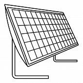 Battery Solar Panel Icon. Outline Illustration Of Battery Solar Panel Vector Icon For Web Design Iso poster
