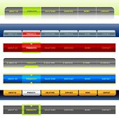 Clean vector, easy to edit web navigation templates 1