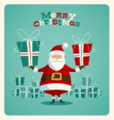 picture of juggler  - Christmas card with Santa - JPG