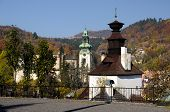 stock photo of banska  - Autumn in Banska Stiavnica - JPG