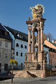 picture of banska  - Holy Trinity Plague Column in Banska Stiavnica - JPG