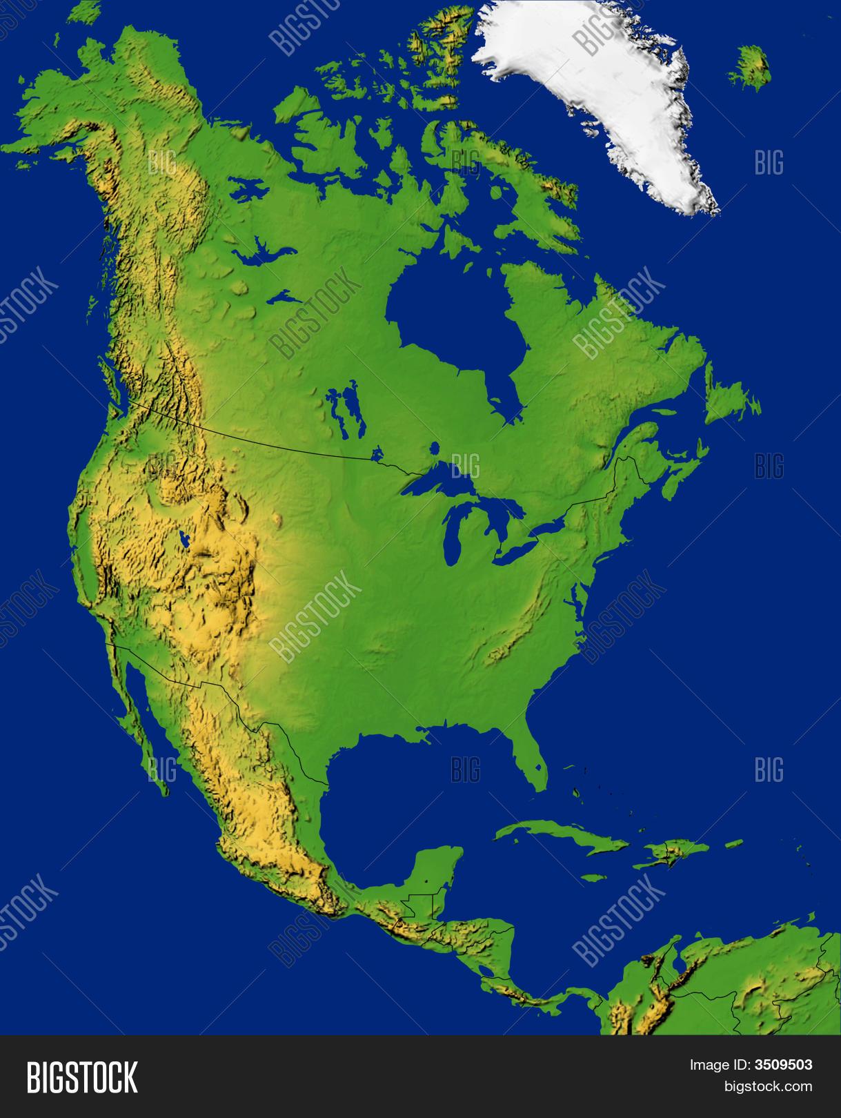 North America Map Stock Photo Stock