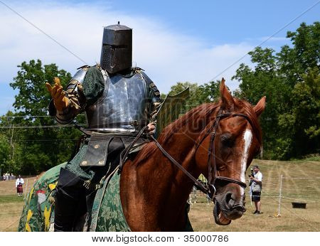 Jouster Requesting His Sword