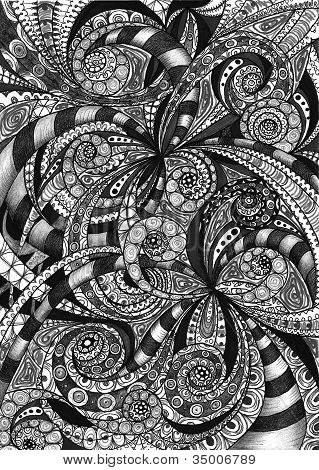 Drawing Floral Abstract Background