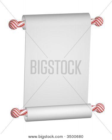 Blank Scroll Christmas
