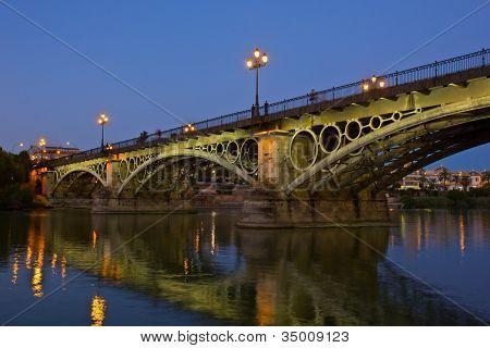 Triana Bridge, the oldest bridge of Seville