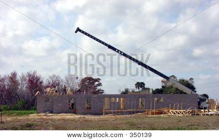 Job Site With Crane