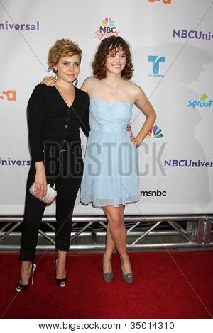 LOS ANGELES - AUG 1:  Mae Whitman, Sarah Ramos arriving at the NBC TCA Summer 2011 Party at SLS Hotel on August 1, 2011 in Los Angeles, CA