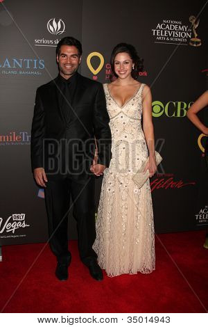 LAS VEGAS - JUN 19:  Jordi Vilasuso, Kaitlin Riley arriving at the  38th Daytime Emmy Awards at Hilton Hotel & Casino on June 19, 2010 in Las Vegas, NV.