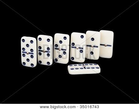 Domino Isolated On A Black Background