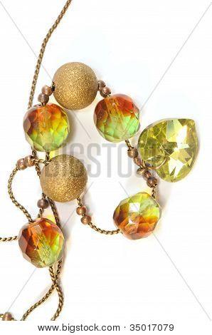Chain Necklace With Swarovski Beads