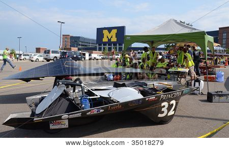 Principia College Car At American Solar Challenge