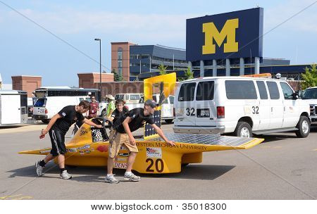 Western Michigan University's Solar Car At The American Solar Challenge