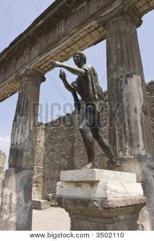 Statue Of Mercury In Pompeii