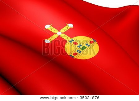 Flag Of Uppland, Sweden.