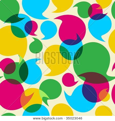 Social Media Bubbles Pattern Background