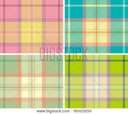 Spring variant of tartan plaid. Seamless vector pattern