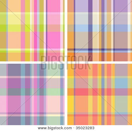 Spring-and-summer collection of plaid. Seamless pattern