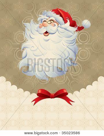 Christmas design in retro style.