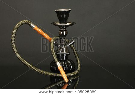 hookah isolated on black background
