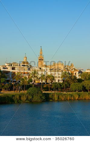 cityscape of Seville, Spain