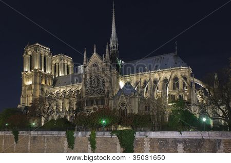 Notre Dame Of Paris At Night