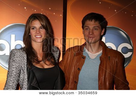LOS ANGELES - MAY 14:  Missy Peregrym, Greg Smith at the Disney ABC Television Group May Press Junket 2011 at ABC Building on May 14, 2011 in Burbank, CA