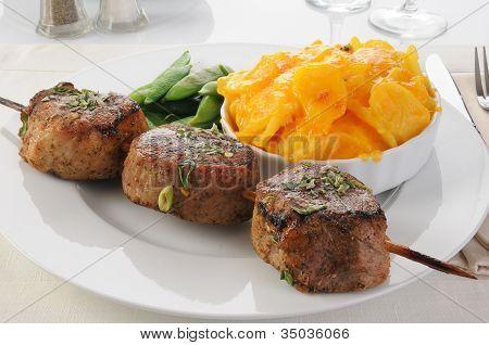 Skewered Pork Tenderloins