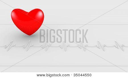 EKG-Herzschlag