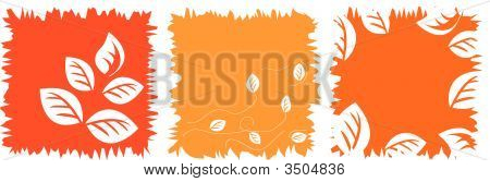 Vector Set Of Autumnal Background