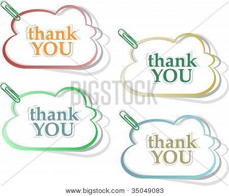 Vector Speech Bubbles Thank You