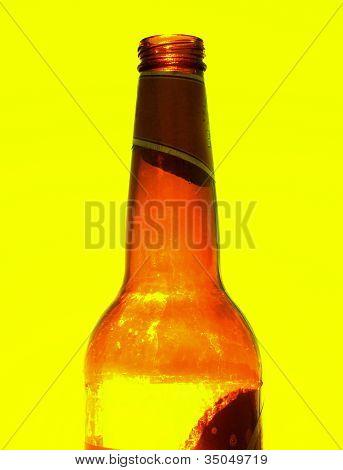 Beer bottle close-up