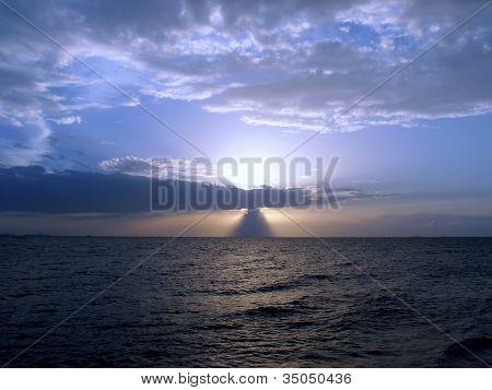 Blue sunset on WongAmat.