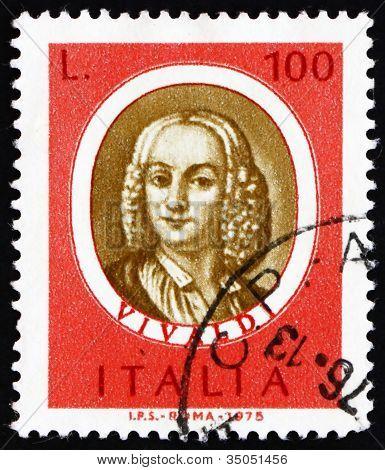 Postage stamp Italy 1975 Antonio Vivaldi, Famous Musician