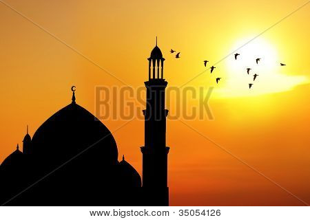 Dome And Minaret Of Mosque