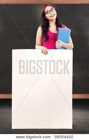Female Teacher With Copy Space