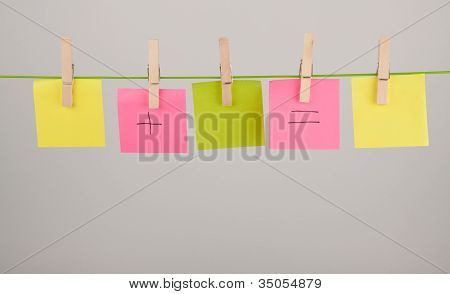 Pegs And Paper Sheets