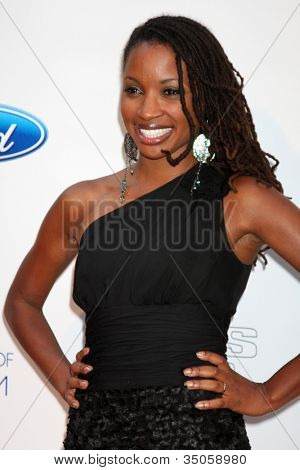 LOS ANGELES - JUN 9:  Shanola Hampton arriving at the Art of Elysium Return of Ford Mustang Boss Event at The Residences at W Hollywood on June 9, 2011 in Los Angeles, CA