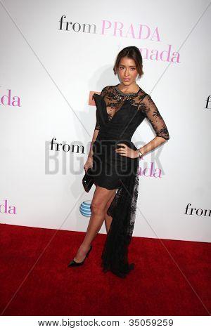 LOS ANGELES - JAN 18:  Fernanda Romero arrives at